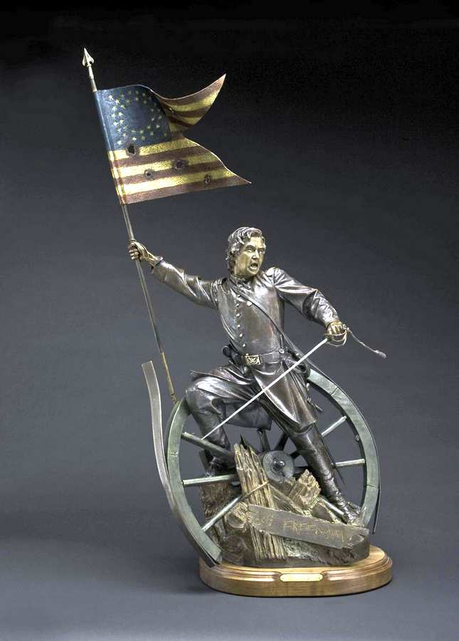 Cry Freedom a Bronze Civil War Sculpture Allegory by James Muir