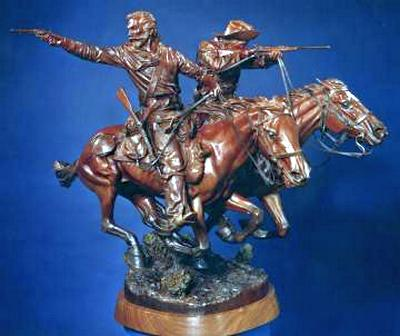 June 25, 1876 a Bronze Indian War Sculpture by James Muir