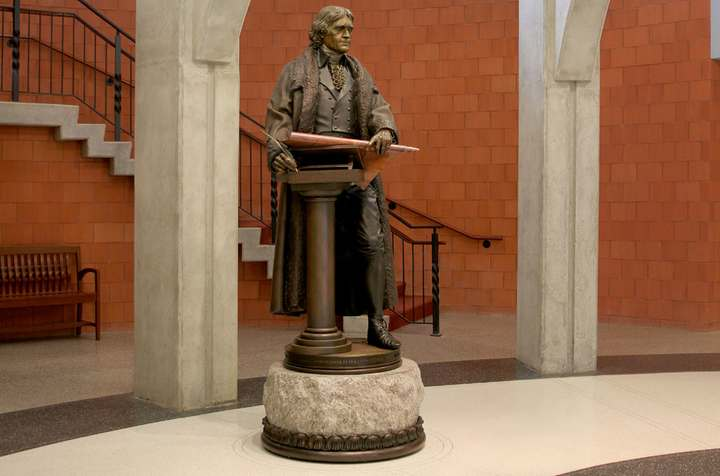 Thomas Jefferson - 1802 a Life-size Bronze Sculpture for the Thomas Jefferson Library at West Point by James Muir