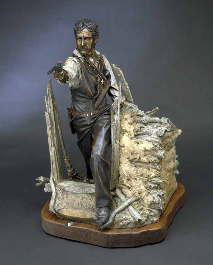 Elfego Baca a Bronze Sculpture Maquette Allegory by James Muir
