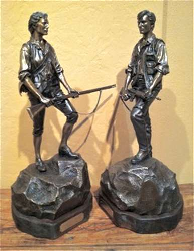 Sons of Liberty 1995 a Bronze Sculpture by James Muir Bronze Allegorical Sculptor-Artist