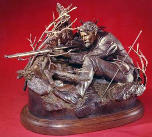 Whitworth Sharpshooter a Bronze Civil War Sculpture Allegory by James Muir