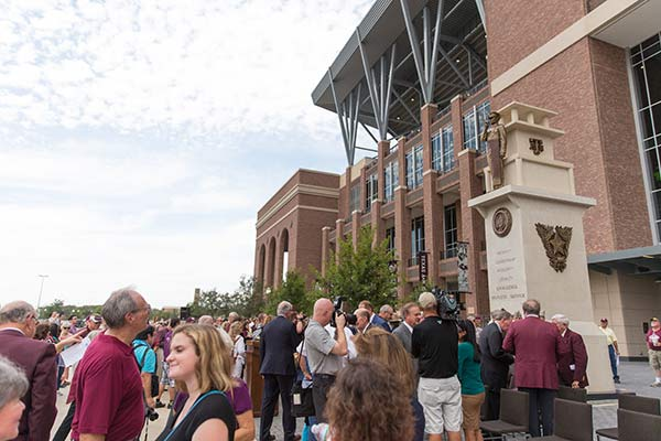 TEXAS A & M UNIVERSITY CORE VALUES a Monumental Bronze Sculpture unveiling